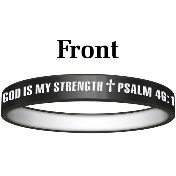 Personalized Black White God Silicone Religious Message Bracelet