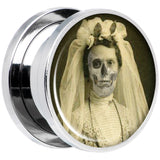 Undead Bride and Groom Halloween Plug Set 5/8