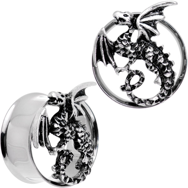 Angry Dragon Double Flare Tunnel Plug Set 6mm to 25mm