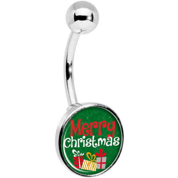 Merry Christmas Presents Belly Ring