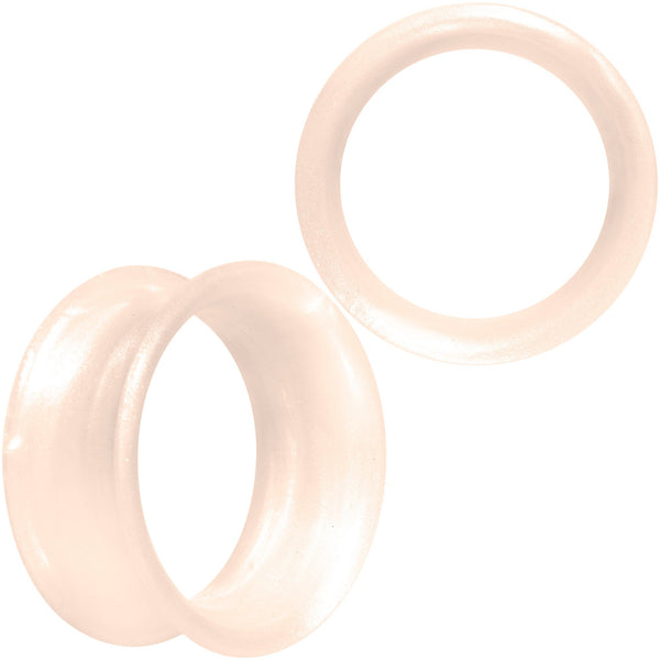 Thin Flexible Peach Silicone Tunnel Plug Set 11mm to 25mm