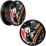 Wake the Dead Grim Reaper Halloween Black Anodized Plug Set 5mm to 16mm