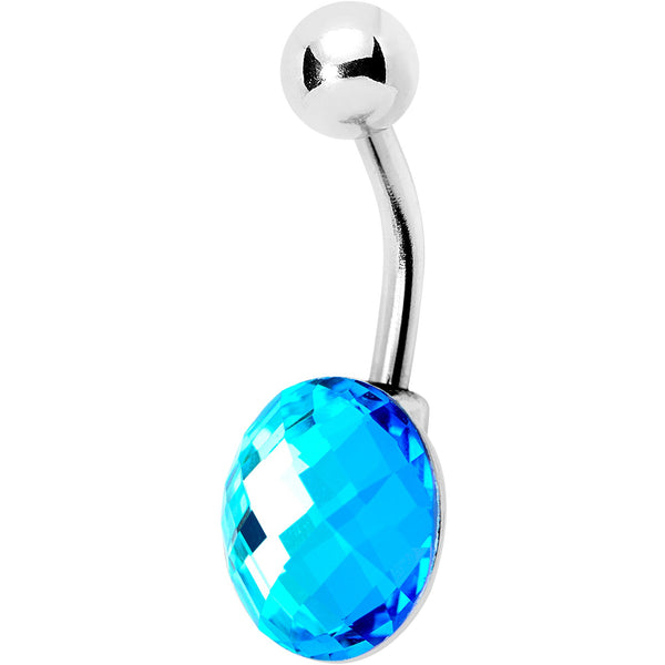 Blue Gem Big Bubble Belly Ring