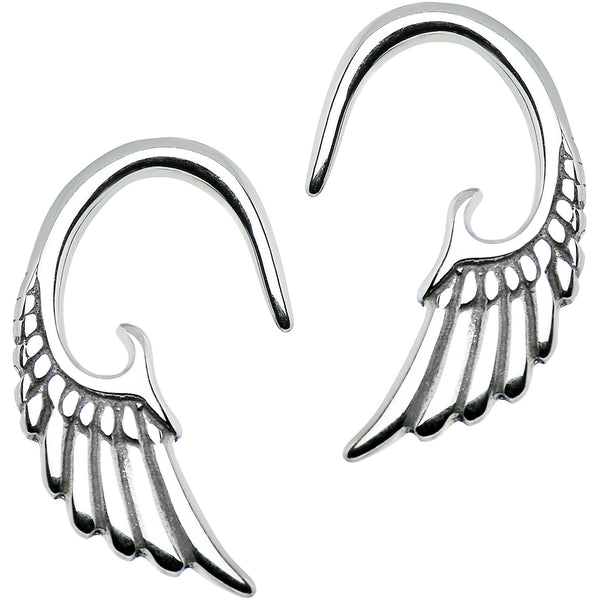 10 Gauge Stainless Steel Angel Wing Curved Taper Set