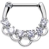 16 Gauge 5/16 Clear Gem Princess Parade Septum Clicker