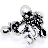 16 Gauge 1/2 Outstretched Octopus Cuff Cartilage Earring