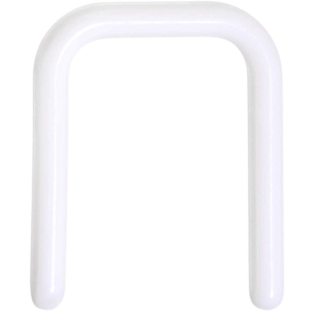 "16 Gauge 7/16"" White Flexible Bioplast Square Septum Retainer"