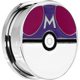 25mm Licensed Pokemon Red Purple Master Ball Screw Fit Plug Set