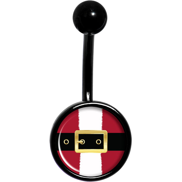 Christmas Santa Suit Black Belly Ring