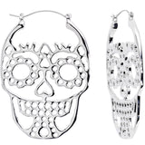 Sugar Skull Cutout Tunnel Plug Earrings