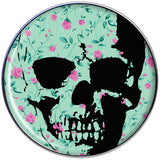 Green Pink Floral Skull Tragus Cartilage Earring