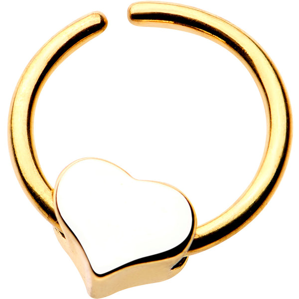 18 Gauge 5/16 Annealed Gold Tone Curved Heart Seamless Circular Ring