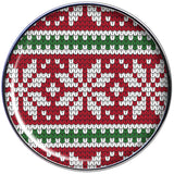 Red Green Christmas Sweater Barbell Tongue Ring