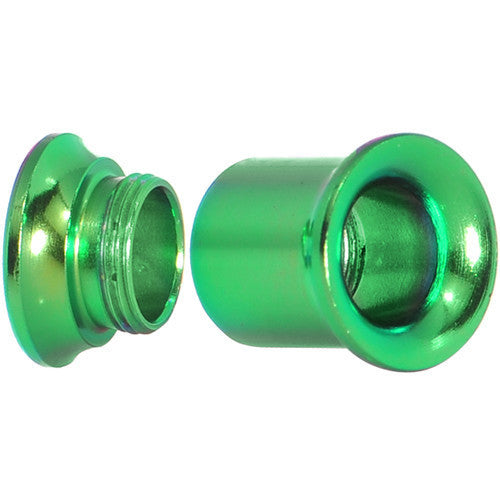 0 Gauge Rainforest Green Anodized Titanium Screw Fit Tunnel Set of 2