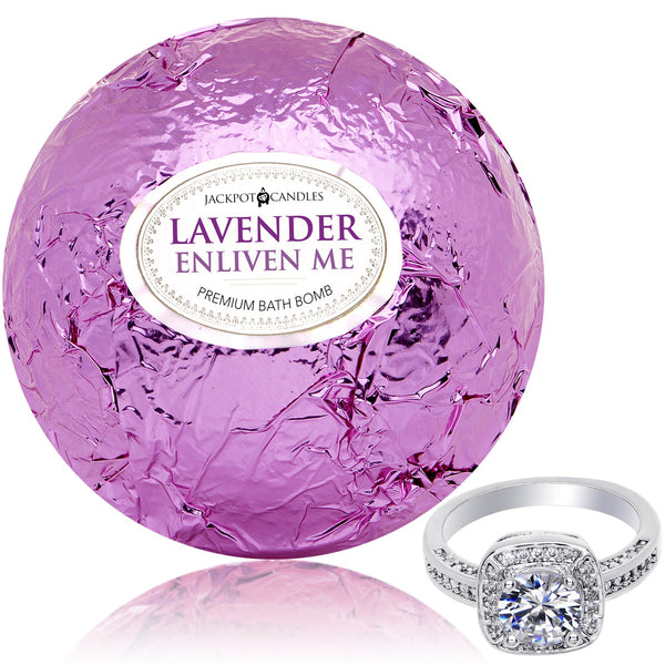 Enliven Me Lavender Bath Bomb with Jewelry Ring Inside