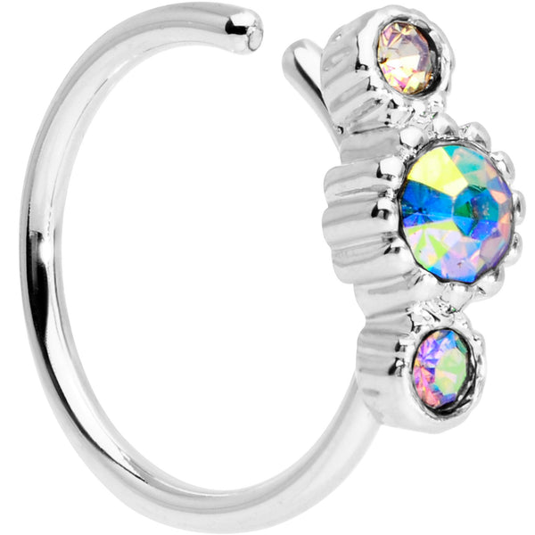 5/16 Aurora CZ Gem Fashion Fusion Seamless Circular Ring