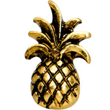 16 Gauge 1/4 Gold PVD Pineapple Pizzazz Cartilage Tragus Earring