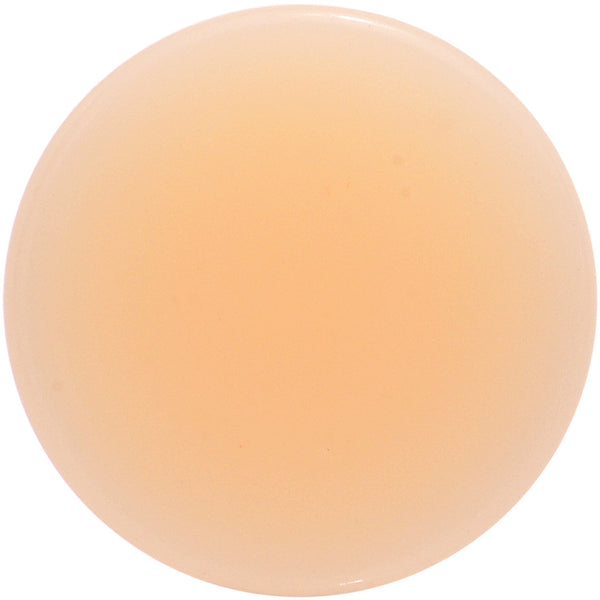 0 Gauge Flesh Tone Light Peach Solid UV Acrylic Saddle Plug Set