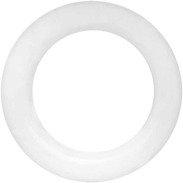 38mm White Silicone Ultra Soft Double Flare Tunnel Plug Set