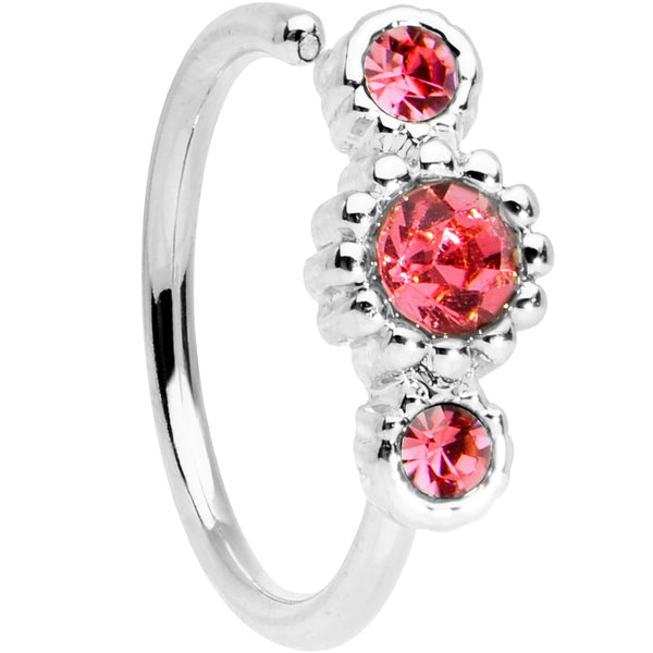 20 gauge 5/16 Pink CZ Fashion Fusion Seamless Circular Ring