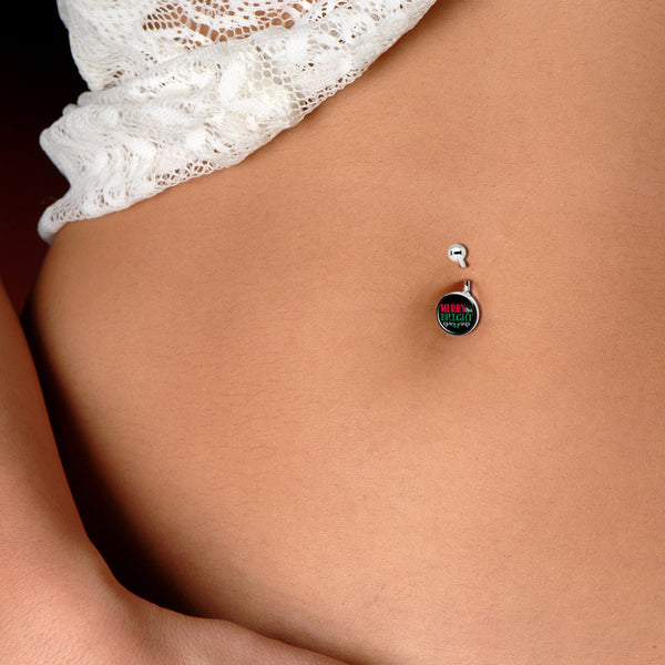 Christmas Merry Bright Belly Ring