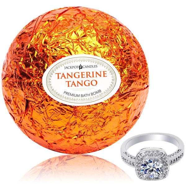 Tangerine Tango Bath Bomb with Jewelry Ring Inside