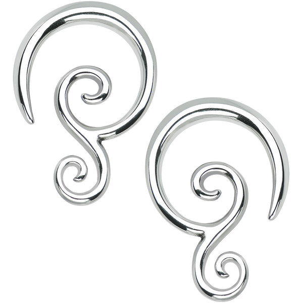 6 Gauge Stainless Steel Double Swirl Curved Taper Set