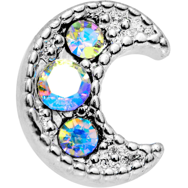 Auora Gem Crescent Moon Cartilage Tragus Earring