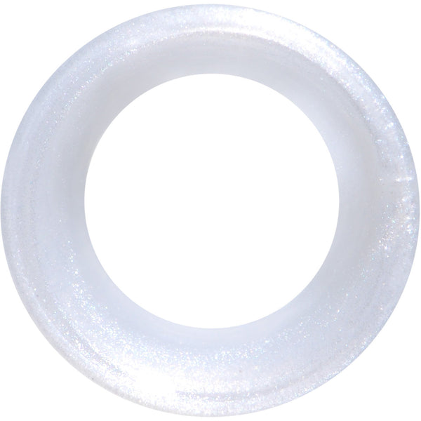 Thin Flexible White Silicone Tunnel Plug Set 6mm to 25mm