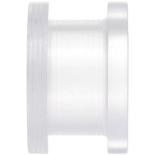 1/2  Clear Acrylic Screw Fit Tunnel Plug Set