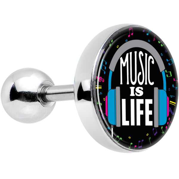 Music is Life Headphones Tragus Cartilage Earring