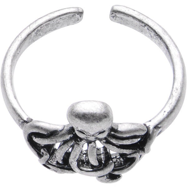 Silver Plated Silly Octopus Toe Ring