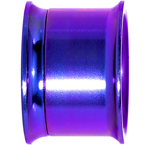 5/8 Purple Anodized Titanium Steel Screw Fit Tunnel Plug Set