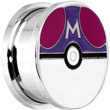 3/4 Licensed Pokemon Red Purple Master Ball Screw Fit Plug Set