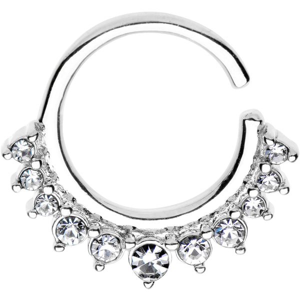 5/16 Rhodium Plated Your Highness Tiara Seamless Circular Ring