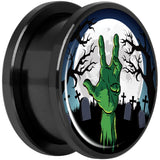 Cemetery Zombie Hand Halloween Black Anodized Plug Set 18mm