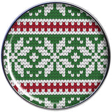 Green Red Christmas Sweater Barbell Tongue Ring