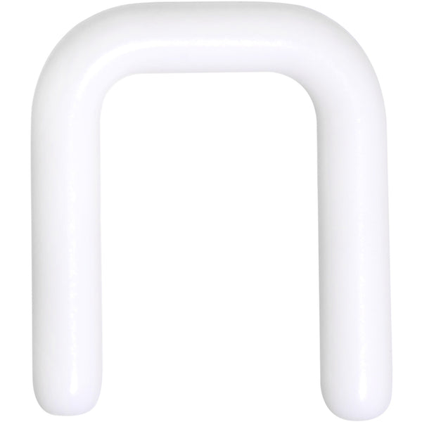 12 Gauge 1/2 White Flexible Bioplast Square Septum Retainer