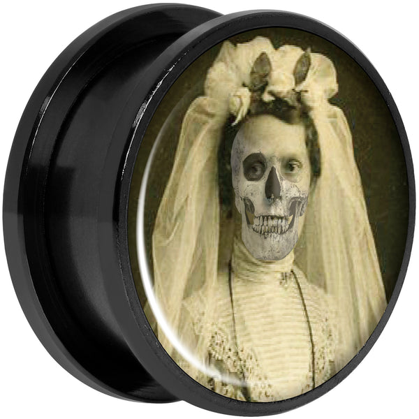 Undead Bride and Groom Halloween Black Anodized Plug Set 20mm