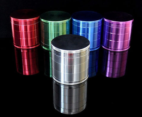 1 -PC CNC Dia. 63MM 5 Parts Aluminum Tobacco Crusher Herb/Spice Grinder Mills Limited Stock