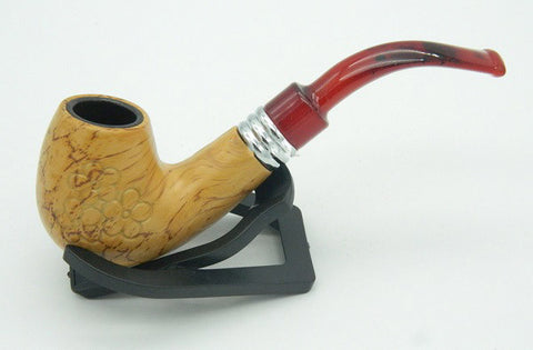 1 PC High Quality New Style Mahogany Pipe Wood Smoking Tobacco Pipes Great Gift for Male Smoker