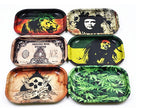 1pc Metal Tobacco Rolling Tray 17cm 13cm 1.8cm Handroller Rolling Trays Rolling Case Machine Tools Tobacco Storage Tray