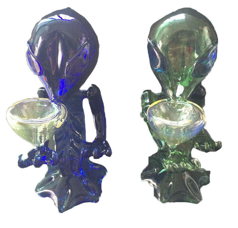 Alien Glass pipes glass smoking pipes glass water pipes with 17.5cm height
