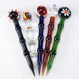 1- PC  Dabber Tool for Oil and Wax glass oil rigs Dab Stick Carving tool Glass cap For Vapor E nails, Dab nail quartz enail