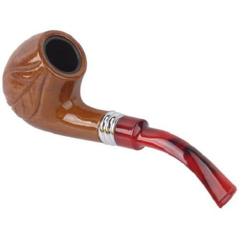 Durable Tobacco Cigarettes Cigar Pipes Carved Designs Leaf Smoking Pipe