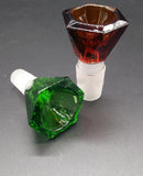 1-pcs Glass Bowl for Glass Bong with Four Colors 14mm And 18mm Male Joint Glass Bowls for Glass Pipes Bongs