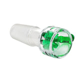 New Glass bong  Blass bowl Star Screen Bowl Green 14mm 18.8mm Dry bowl tobacco bowl smoking pipes colorful
