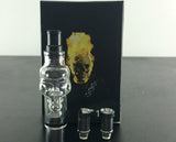 Skull Wax Glass Globe Tank waxVaporizer Clearomizer Atomizer for Ego Series ego Electronic Cigarette(1*Wax-T3)