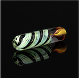 Ultra heavy color changing green slime and black chillum with gold and silver fuming