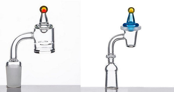 1-PC Universal Colored glass UFO carb cap Hat style dome for Quartz banger Nails glass water pipes, dab oil rigs